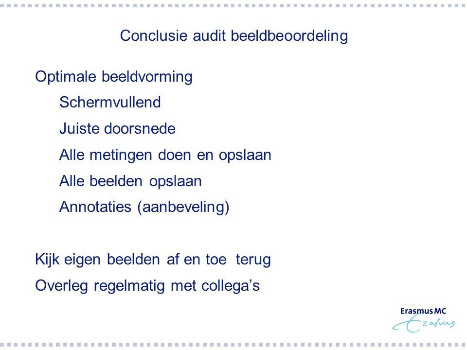 Conclusie audit beeldbeoordeling