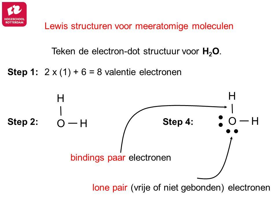 Lewis structuren voor meeratomige moleculen