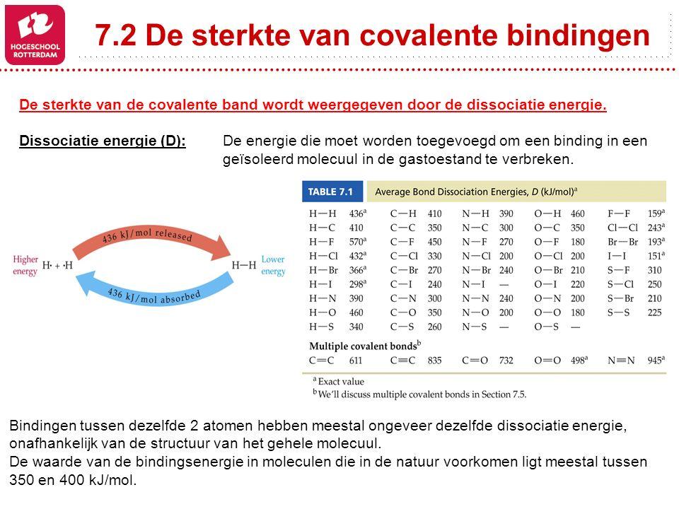 7.2 De sterkte van covalente bindingen