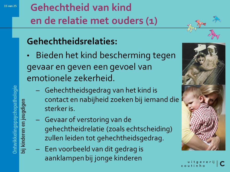Gehechtheid van kind en de relatie met ouders (1)