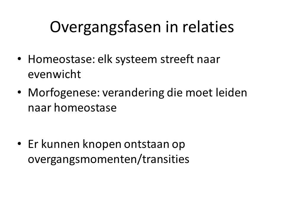 Overgangsfasen in relaties