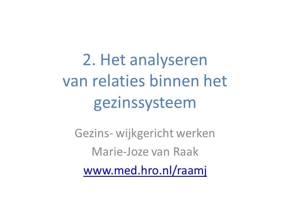 2. Het analyseren van relaties binnen het gezinssysteem
