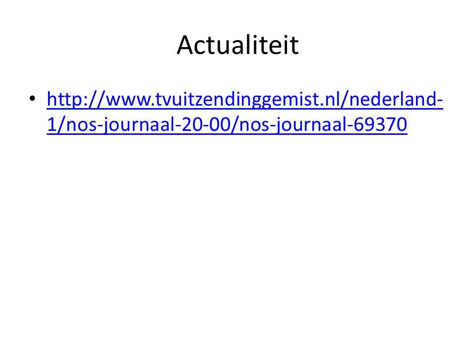 Actualiteit http://www.tvuitzendinggemist.nl/nederland-1/nos-journaal-20-00/nos-journaal-69370.