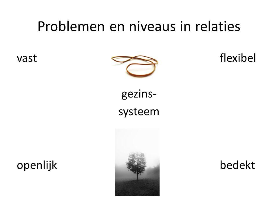 Problemen en niveaus in relaties