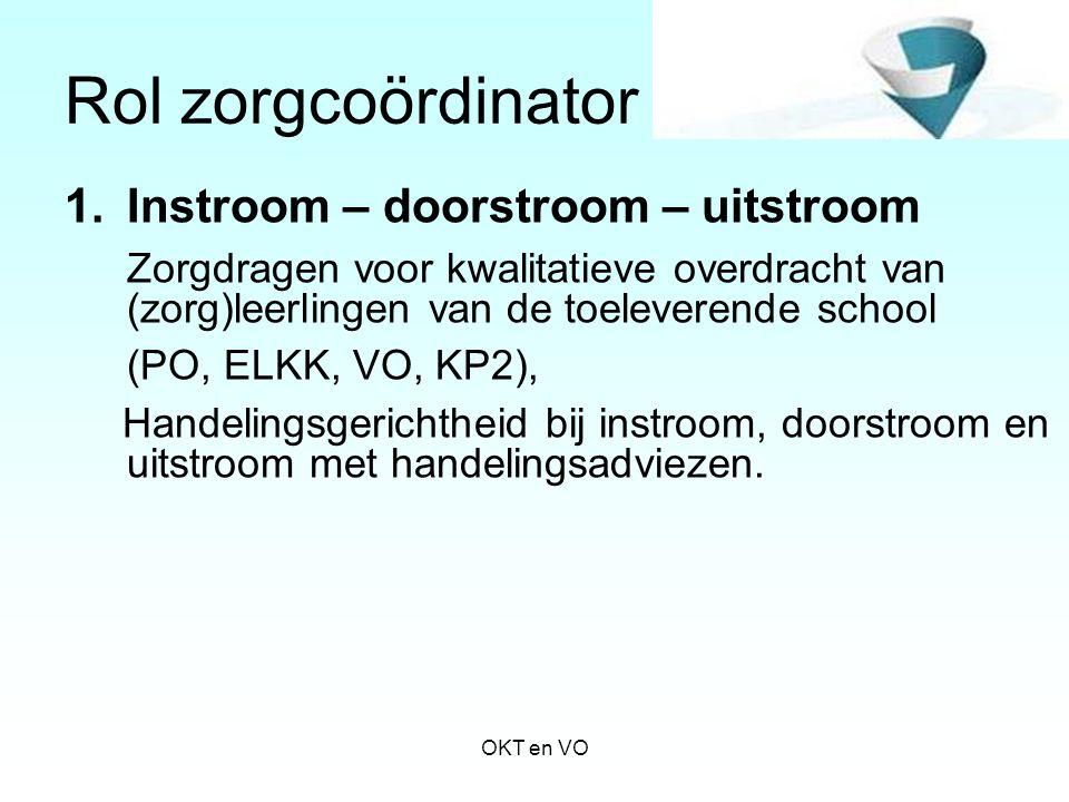 Rol zorgcoördinator Instroom – doorstroom – uitstroom