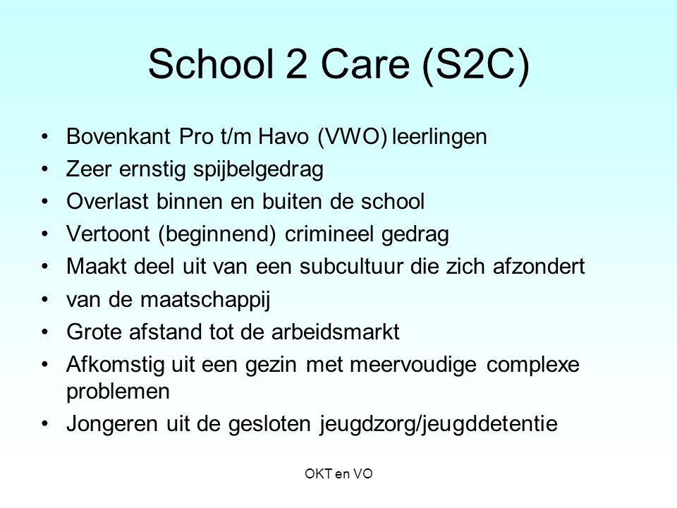 School 2 Care (S2C) Bovenkant Pro t/m Havo (VWO) leerlingen