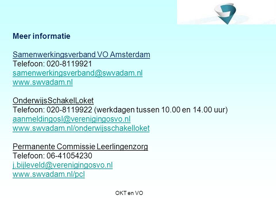 Samenwerkingsverband VO Amsterdam Telefoon: 020-8119921