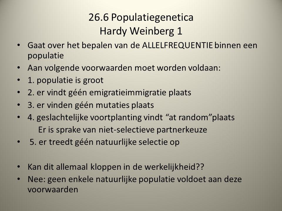 26.6 Populatiegenetica Hardy Weinberg 1