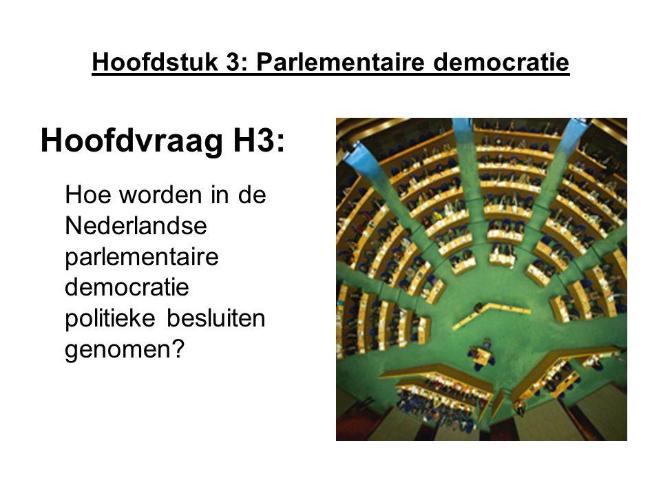 Hoofdstuk 3: Parlementaire democratie
