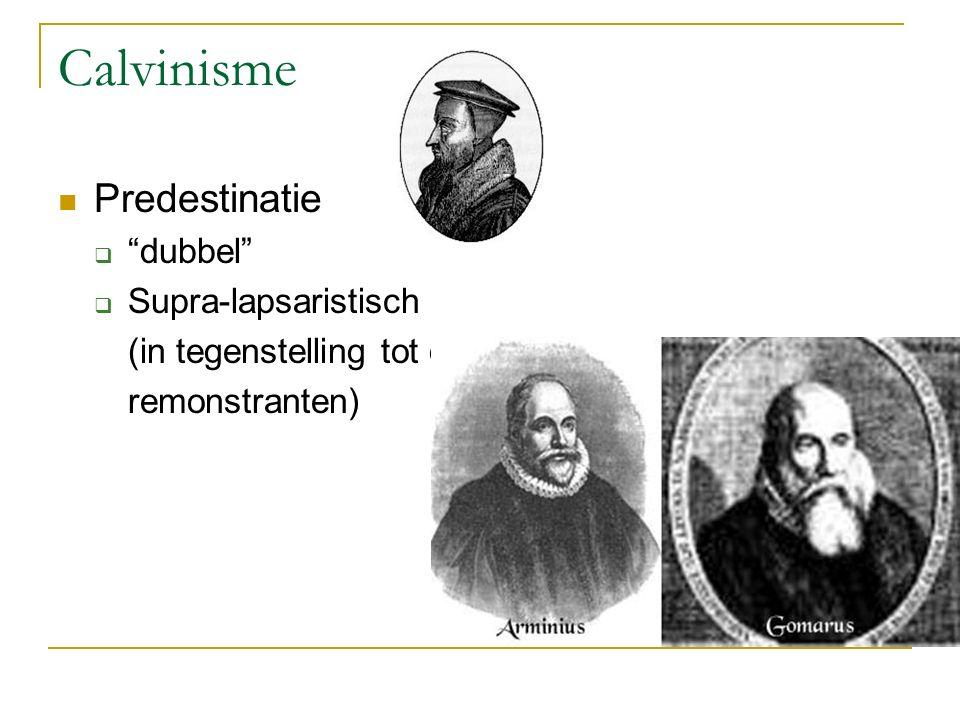 Calvinisme Predestinatie dubbel Supra-lapsaristisch