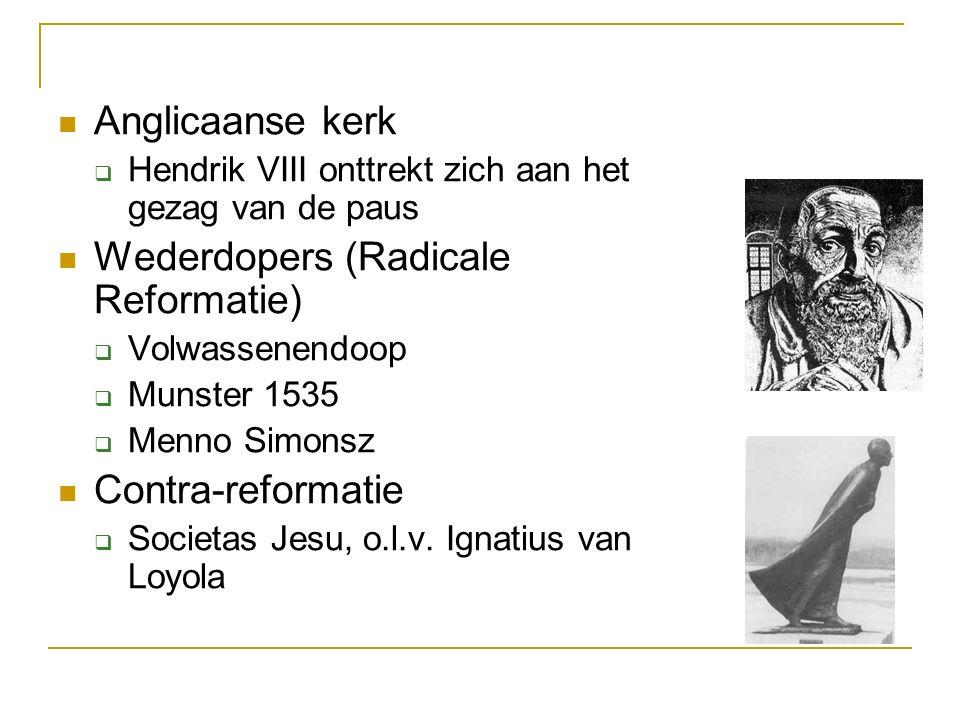 Wederdopers (Radicale Reformatie)