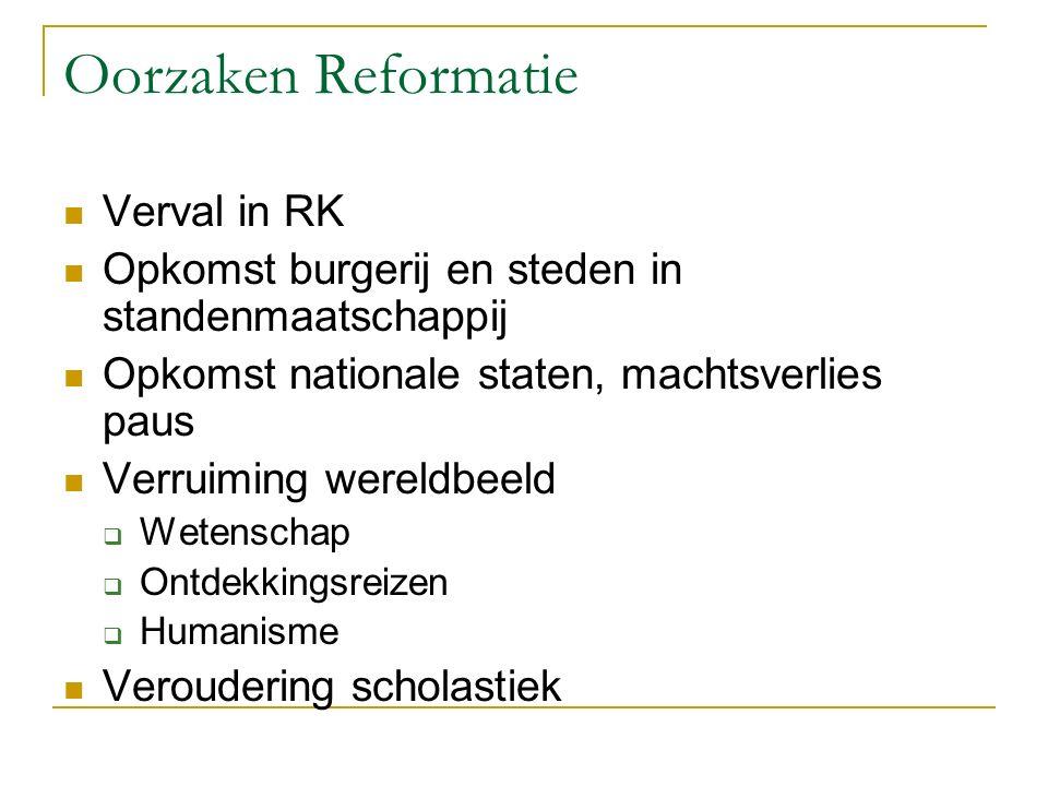 Oorzaken Reformatie Verval in RK