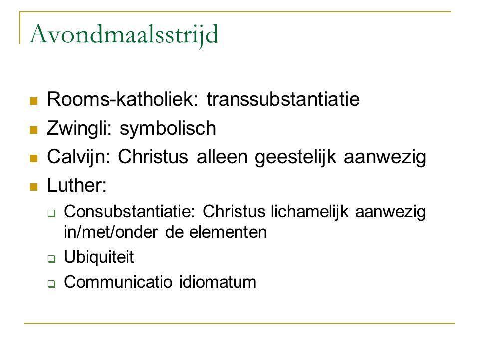 Avondmaalsstrijd Rooms-katholiek: transsubstantiatie