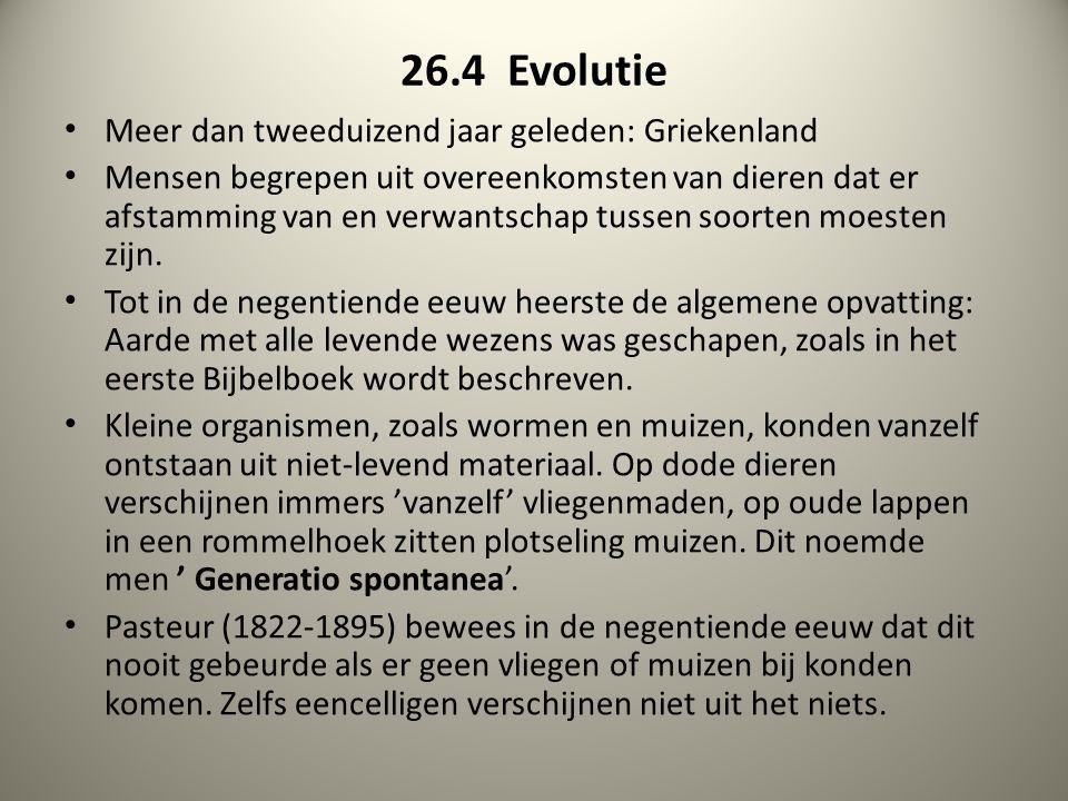 26.4 Evolutie Meer dan tweeduizend jaar geleden: Griekenland