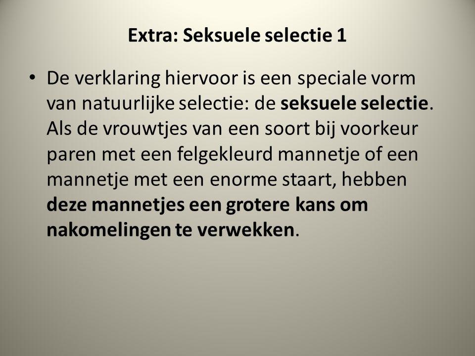Extra: Seksuele selectie 1