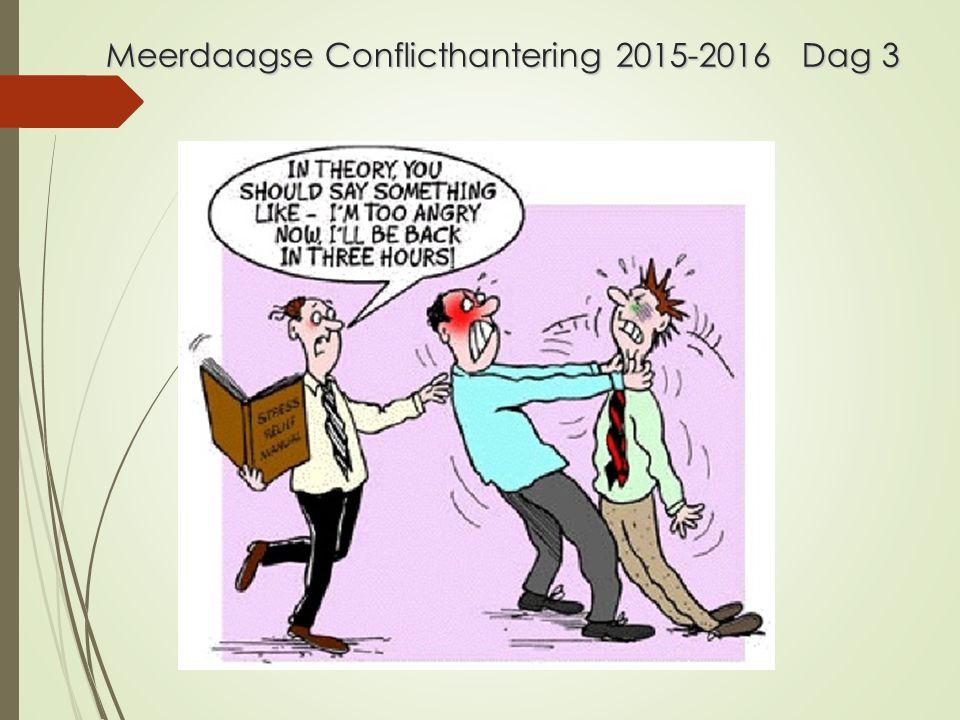 Meerdaagse Conflicthantering 2015-2016 Dag 3