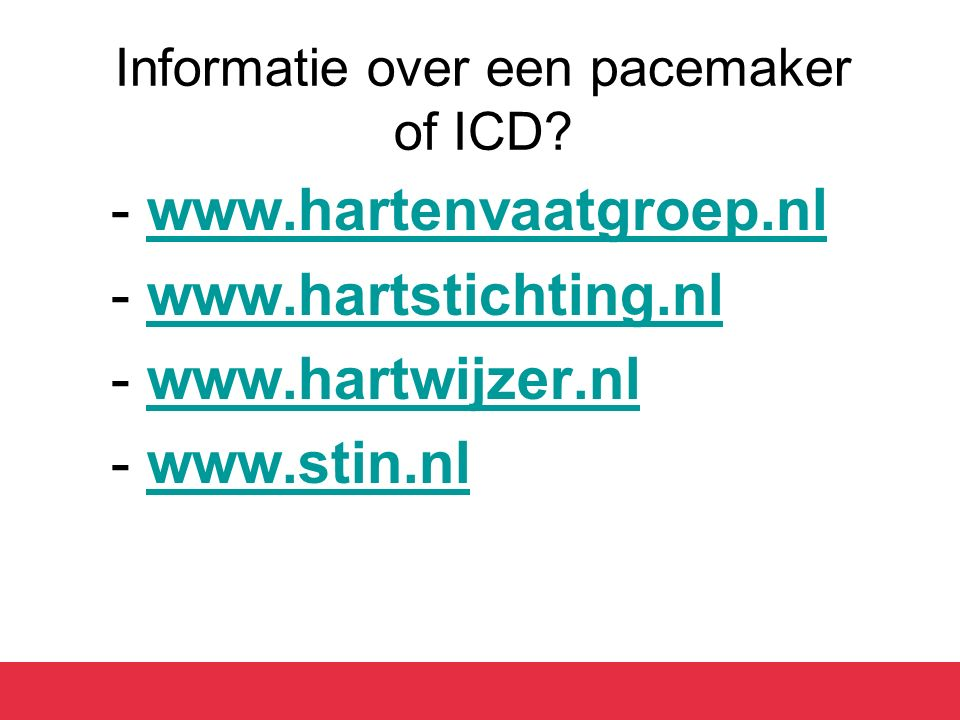 Informatie over een pacemaker of ICD