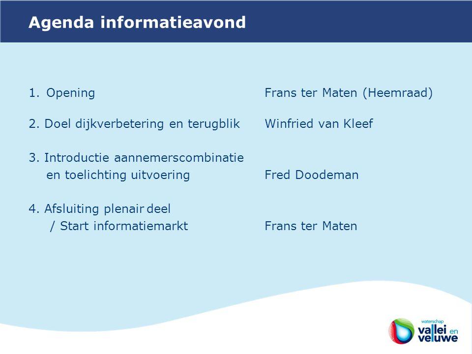 Agenda informatieavond