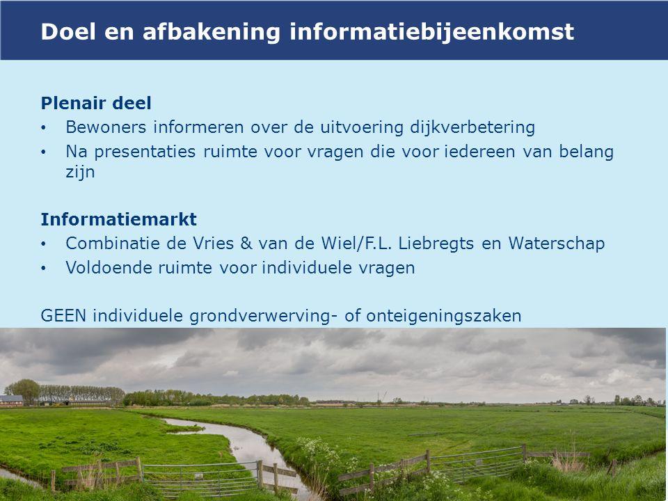 Doel en afbakening informatiebijeenkomst