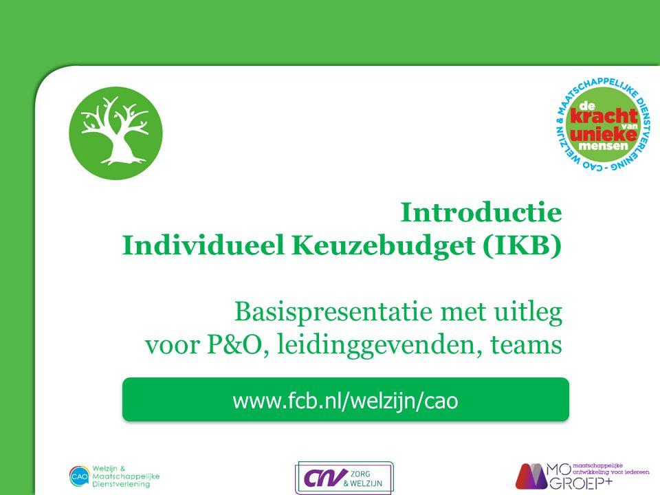 Individueel Keuzebudget (IKB) Basispresentatie met uitleg
