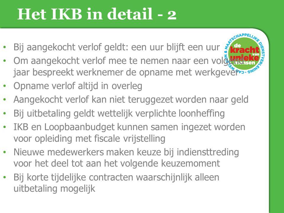Het IKB in detail - 2 Bij aangekocht verlof geldt: een uur blijft een uur.