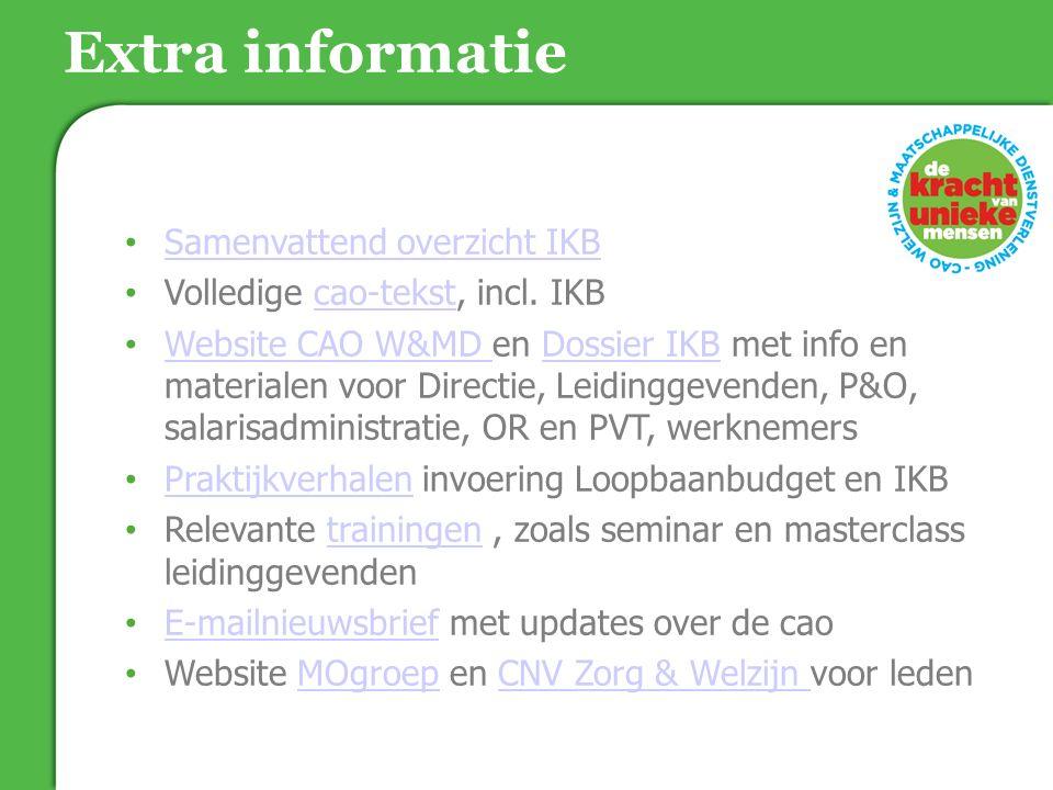 Extra informatie Samenvattend overzicht IKB