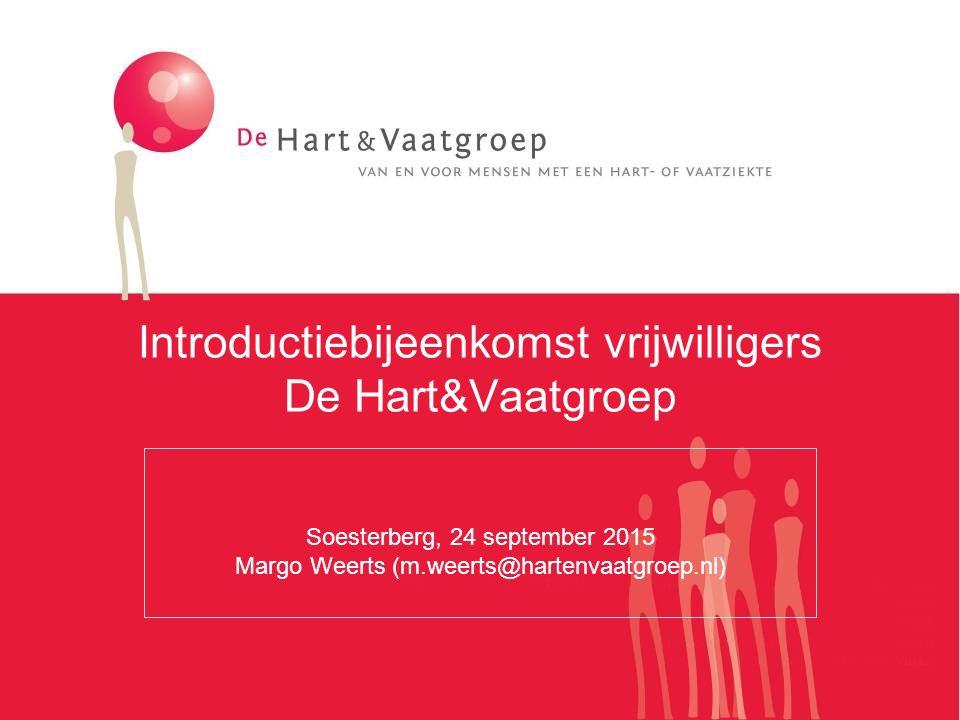 Introductiebijeenkomst vrijwilligers De Hart&Vaatgroep