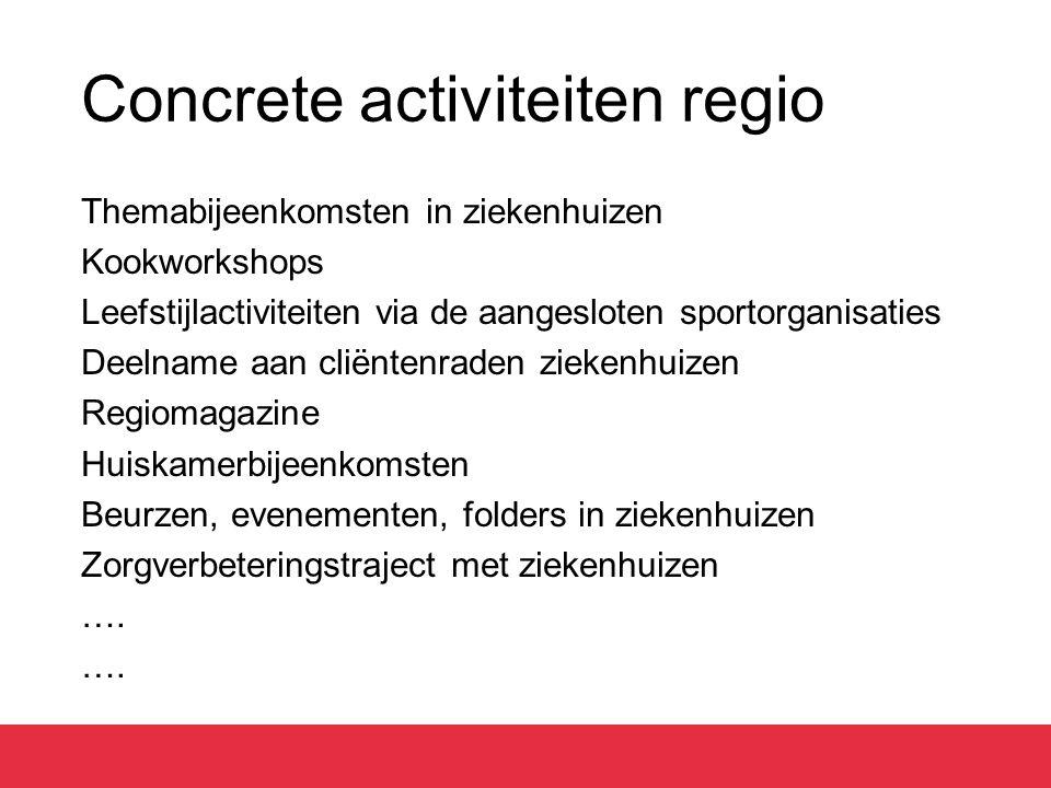 Concrete activiteiten regio