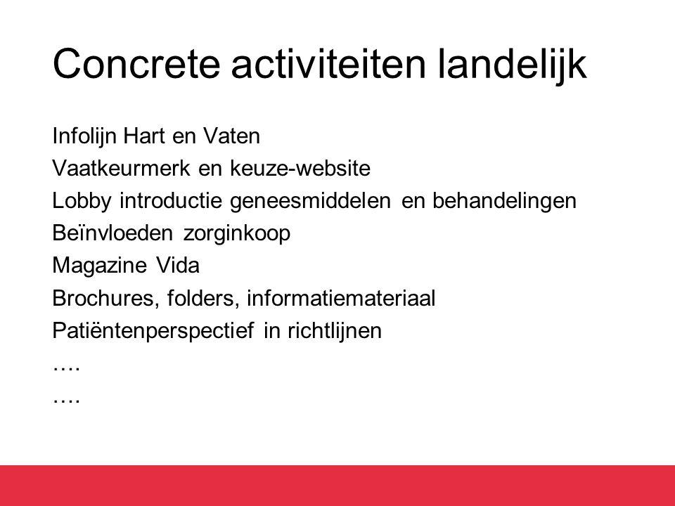 Concrete activiteiten landelijk