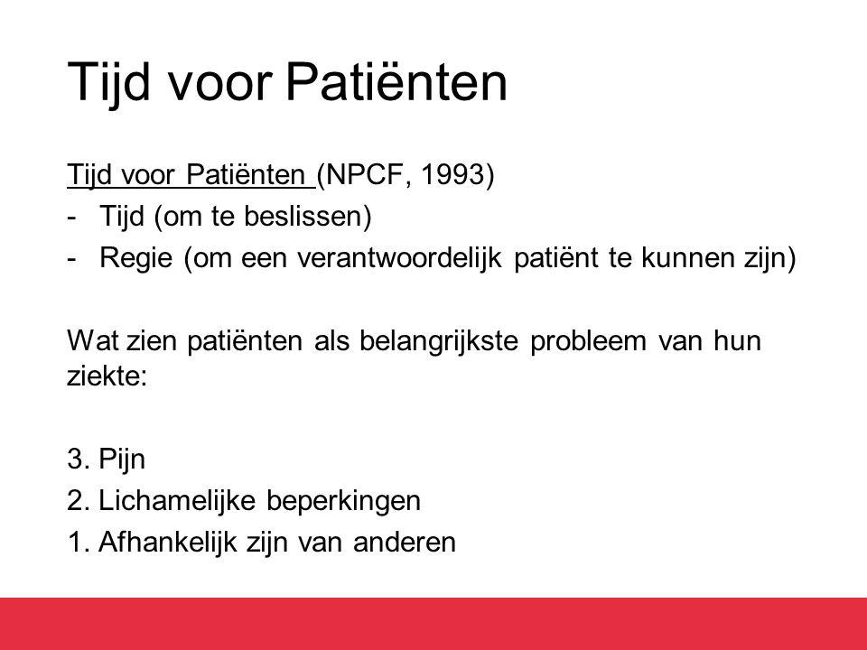Tijd voor Patiënten Tijd voor Patiënten (NPCF, 1993)