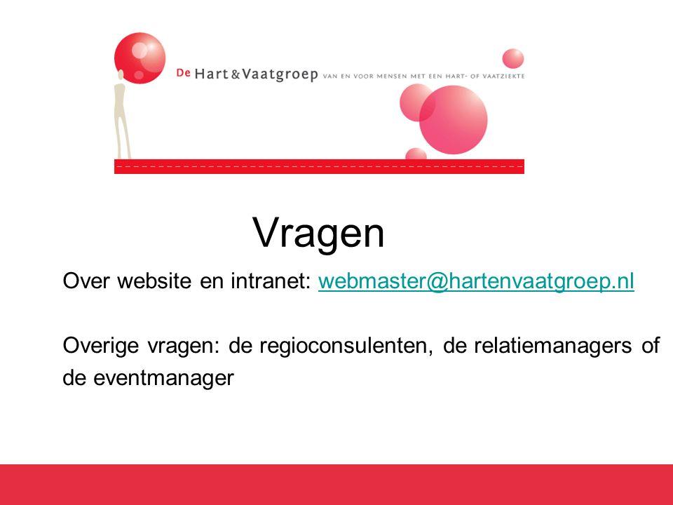 Vragen Over website en intranet: webmaster@hartenvaatgroep.nl