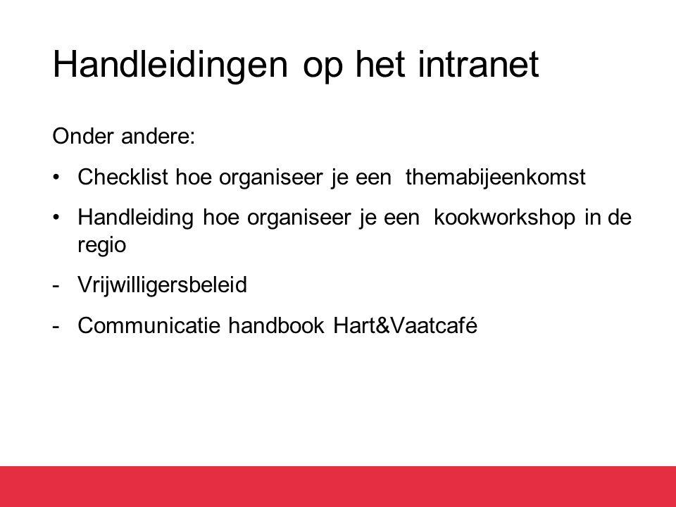 Handleidingen op het intranet