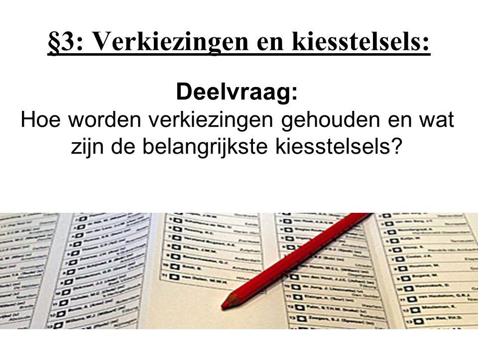 §3: Verkiezingen en kiesstelsels: