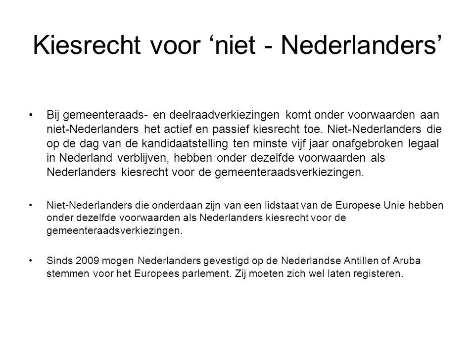 Kiesrecht voor 'niet - Nederlanders'