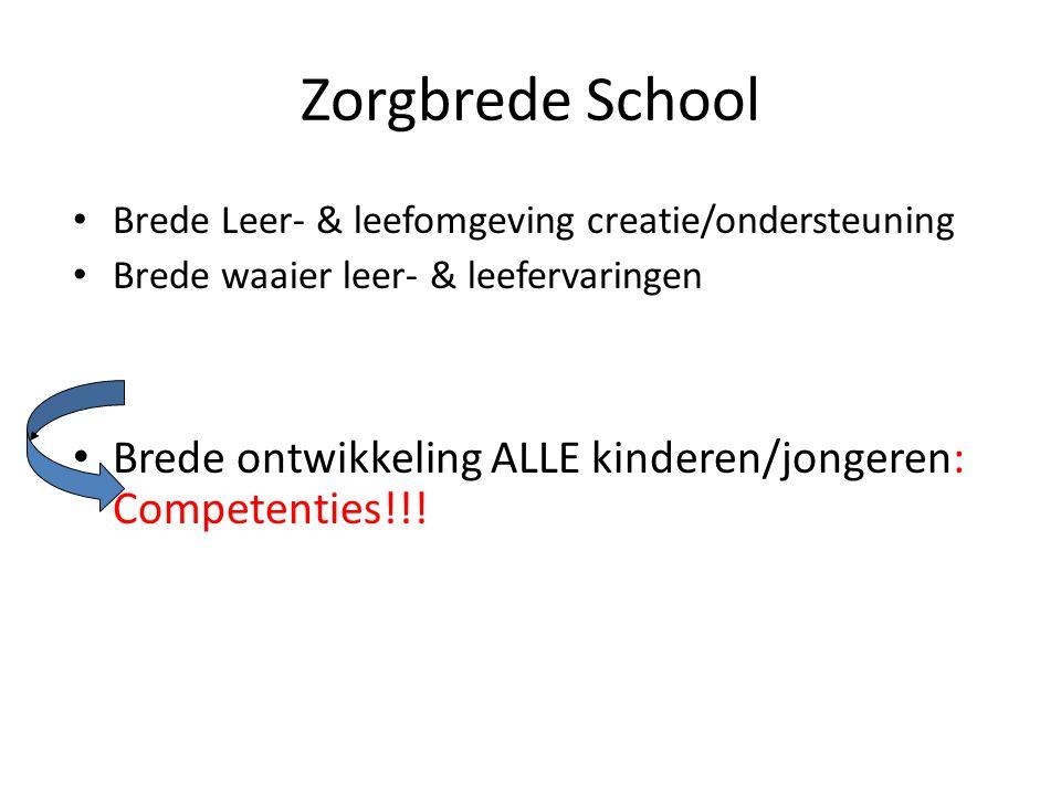Zorgbrede School Brede Leer- & leefomgeving creatie/ondersteuning. Brede waaier leer- & leefervaringen.