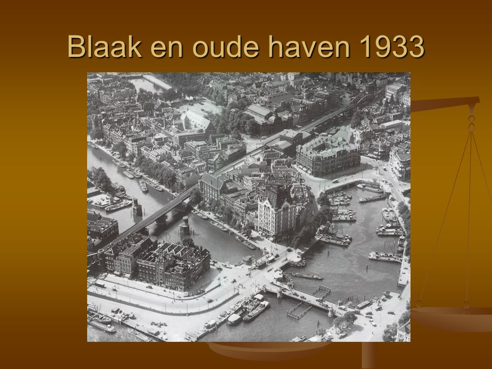 Blaak en oude haven 1933