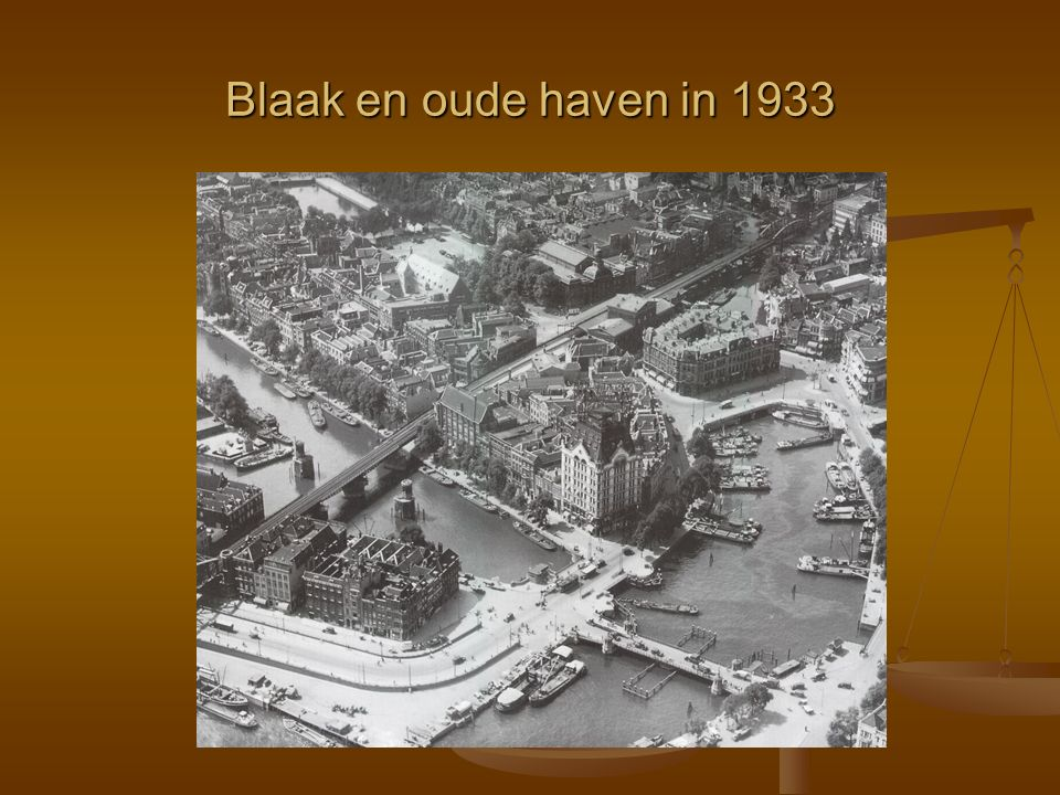 Blaak en oude haven in 1933