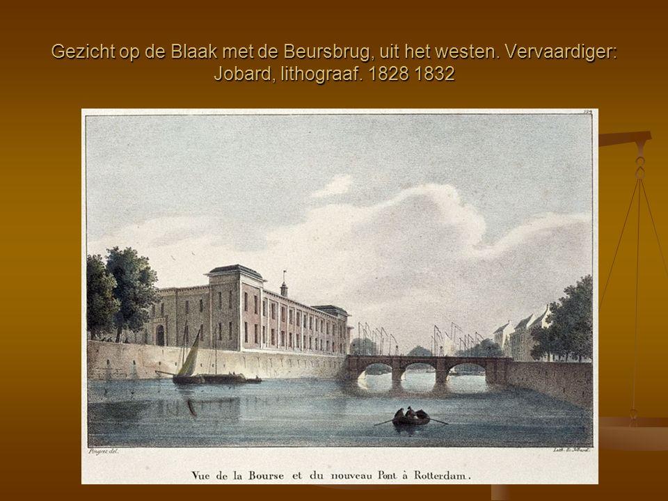 Gezicht op de Blaak met de Beursbrug, uit het westen