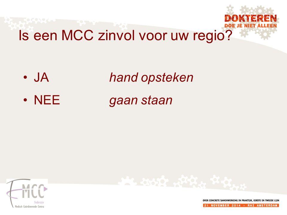 Is een MCC zinvol voor uw regio
