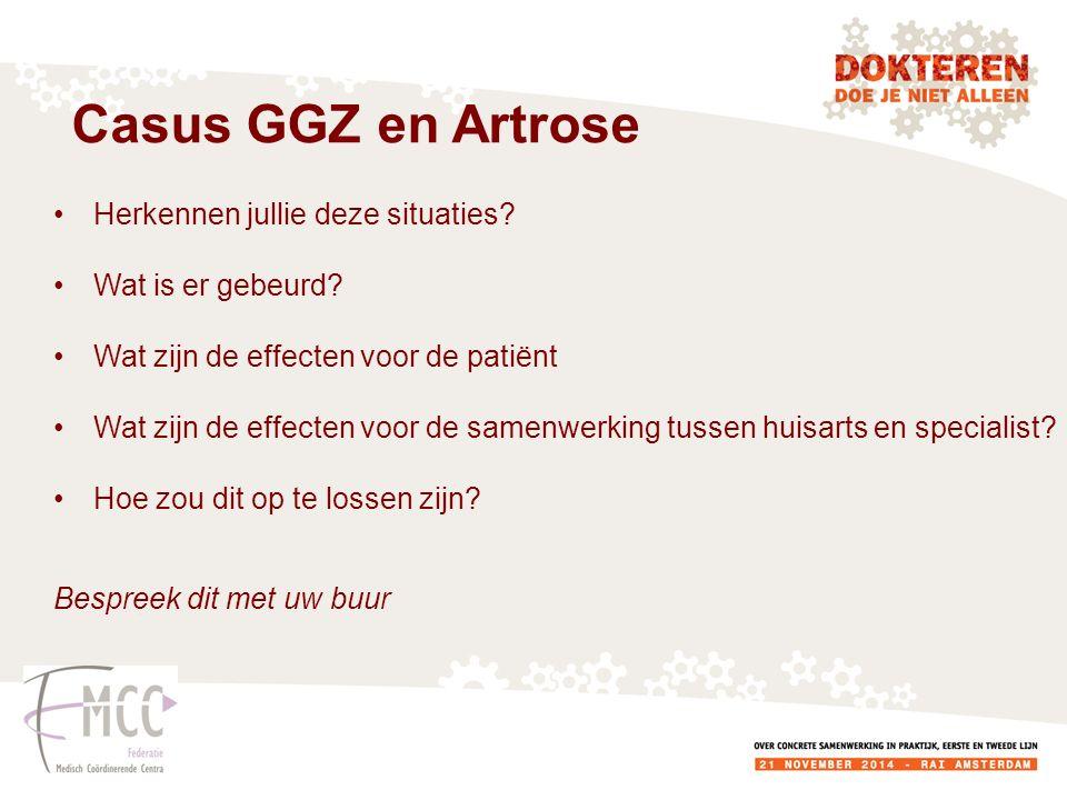 Casus GGZ en Artrose Herkennen jullie deze situaties