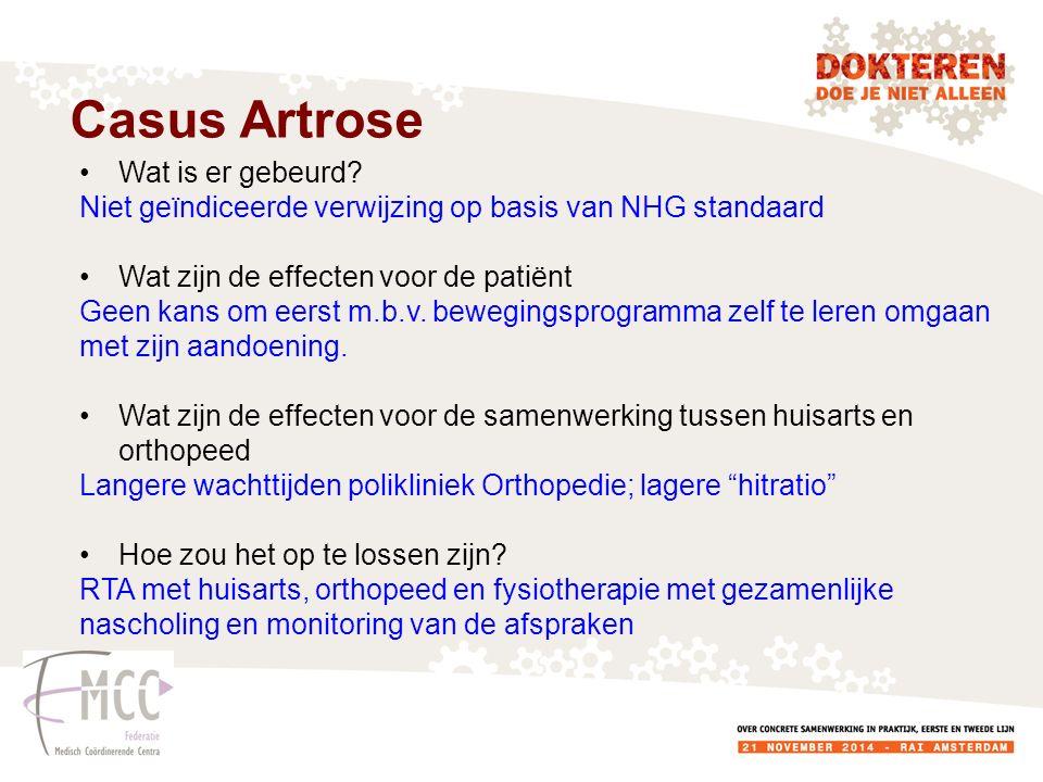 Casus Artrose Wat is er gebeurd