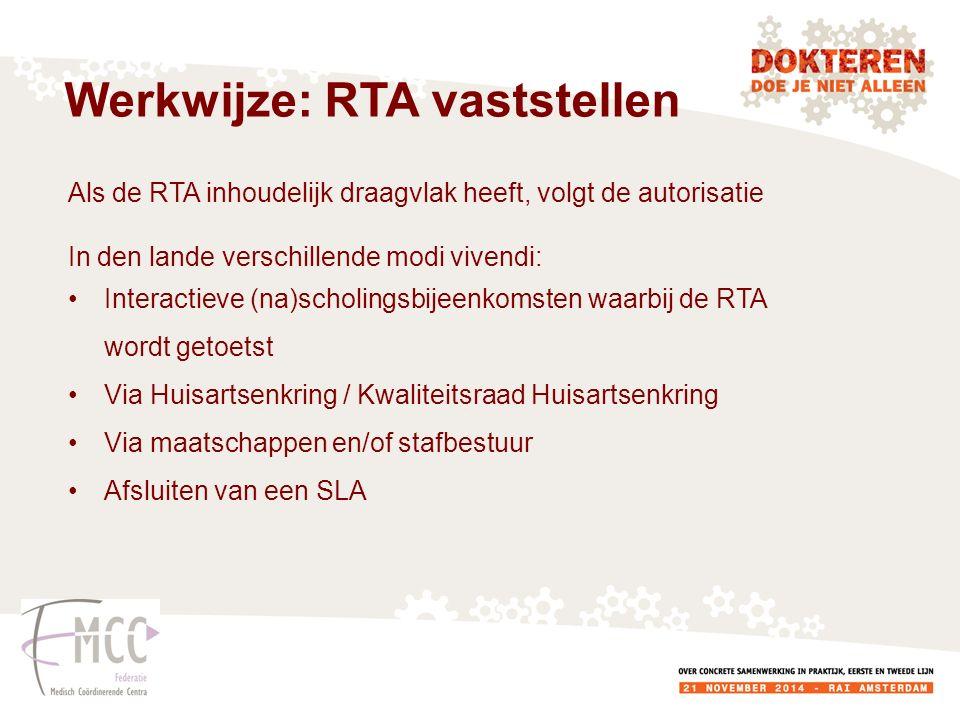 Werkwijze: RTA vaststellen