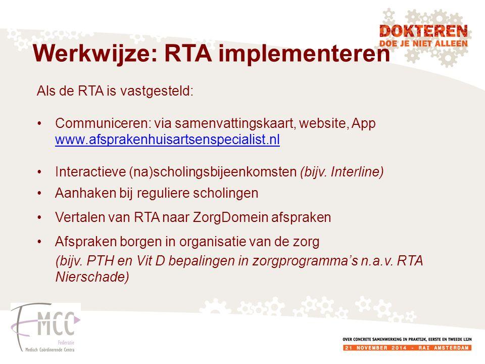 Werkwijze: RTA implementeren