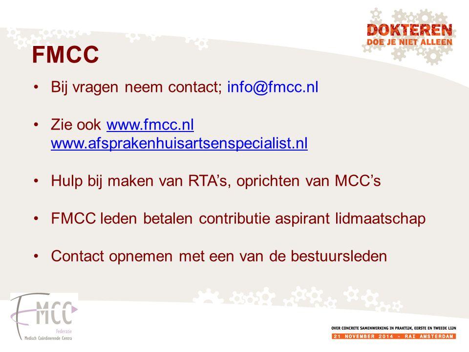 FMCC Bij vragen neem contact; info@fmcc.nl
