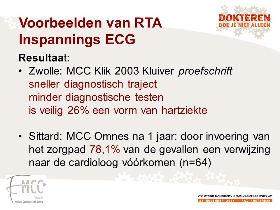 Voorbeelden van RTA Inspannings ECG Resultaat: