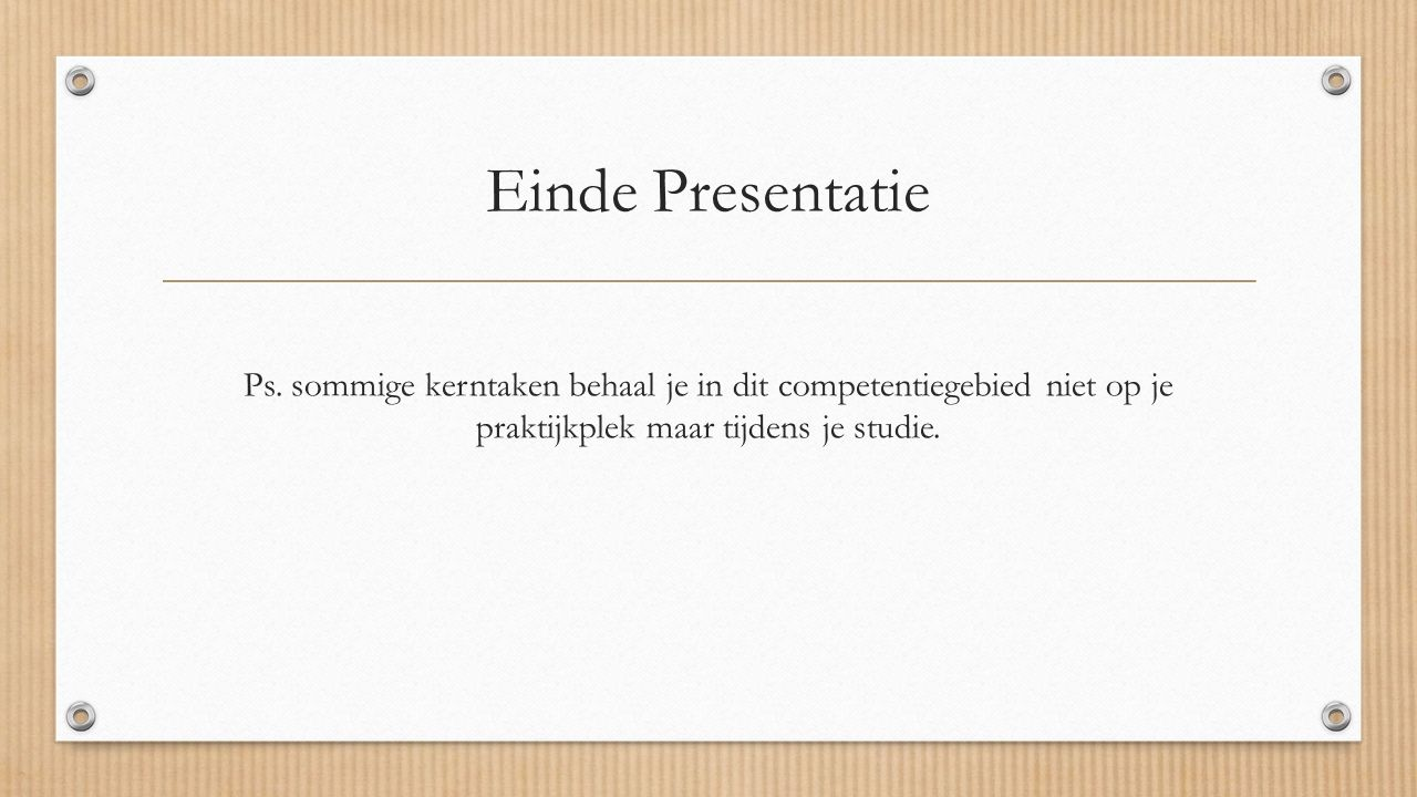 Einde Presentatie Ps.