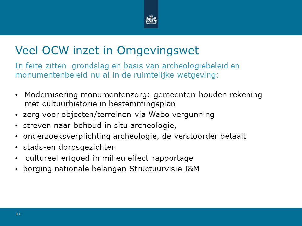 Veel OCW inzet in Omgevingswet