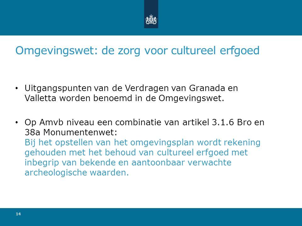 Omgevingswet: de zorg voor cultureel erfgoed