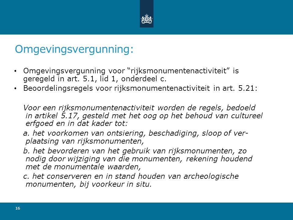 Omgevingsvergunning: