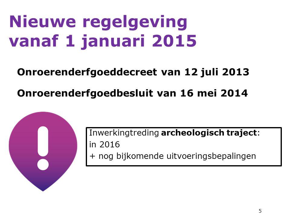 Nieuwe regelgeving vanaf 1 januari 2015